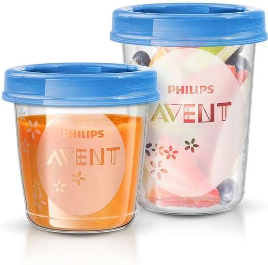 Philips Avent SCF721/20 - Bewaarbekers voor voeding (10x 180ml en 10x 240ml) - 20 stuks