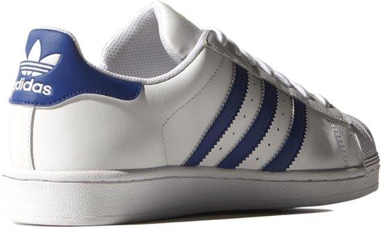 adidas superstar blauw wit suede